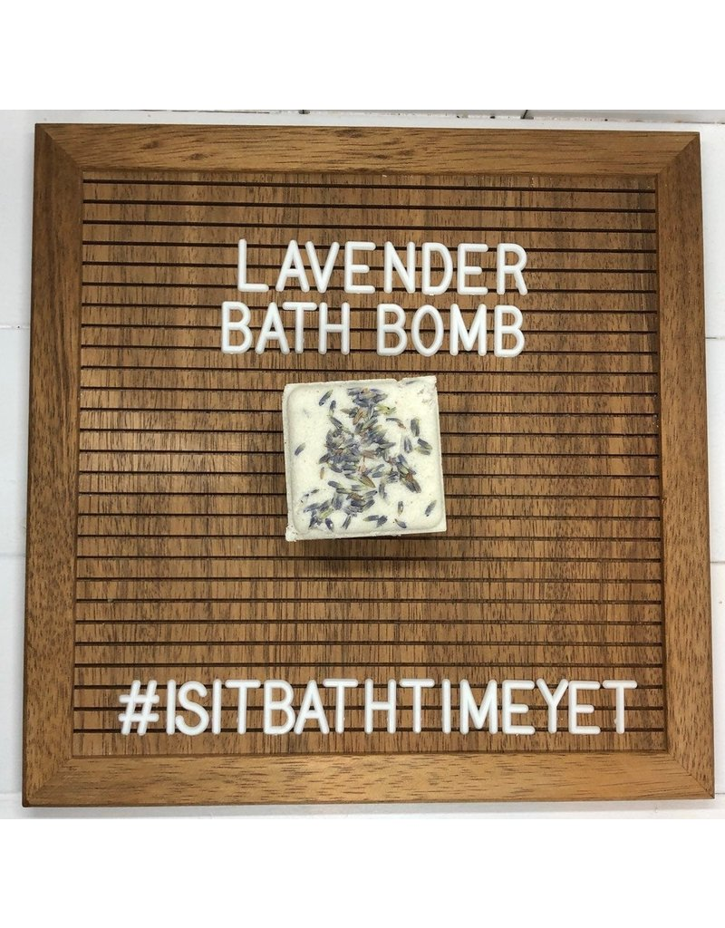 Is It Bath Time Yet? Lavender Bath Bomb