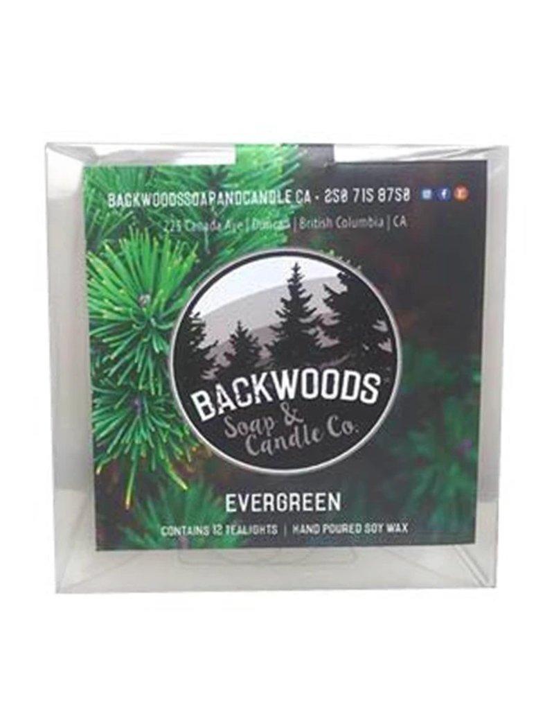 Backwoods Soap & Co Evergreen Tealights