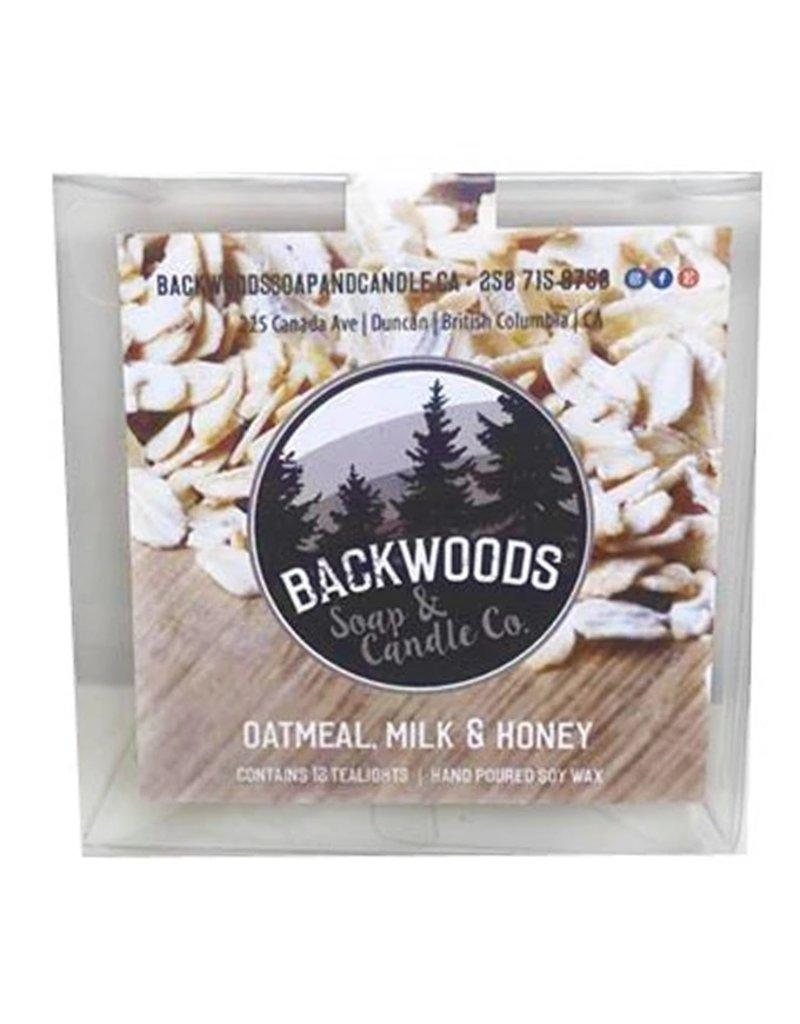 Backwoods Soap & Co Oatmeal Milk & Honey Tealights