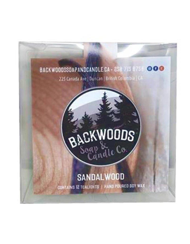Backwoods Soap & Co Sandalwood Tealights
