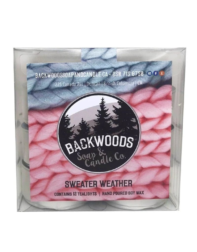 Backwoods Soap & Co Sweater Weather Tealights