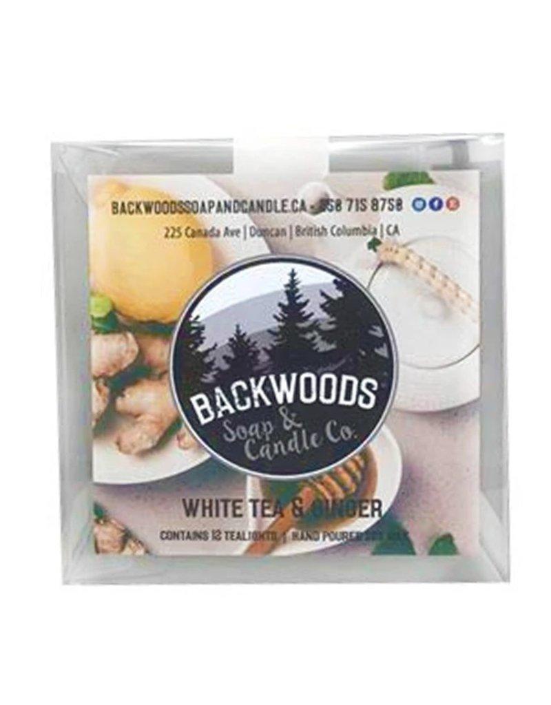 Backwoods Soap & Co White Tea & Ginger Tealights