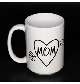 Cultured Coast Heart Mom 15oz Mug
