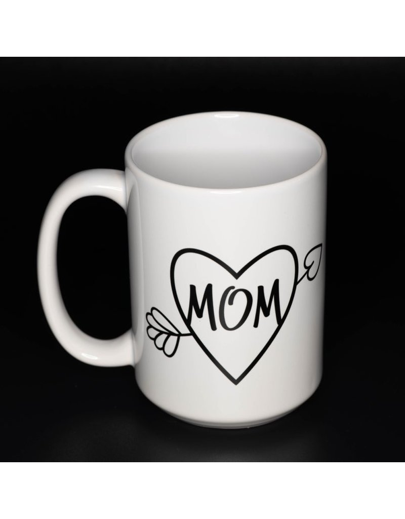 Cultured Coast Heart Mom 15oz Mug