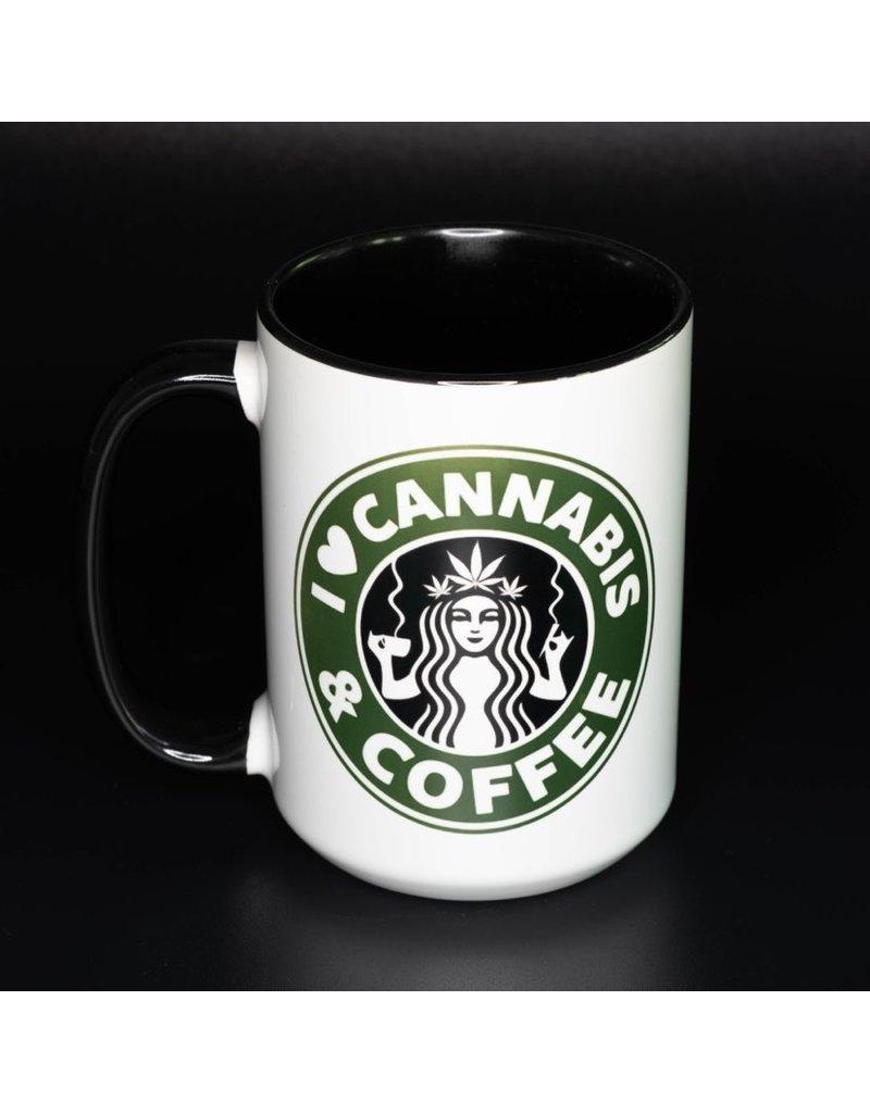 Cultured Coast Cannabis and Coffee Black 15oz Mug