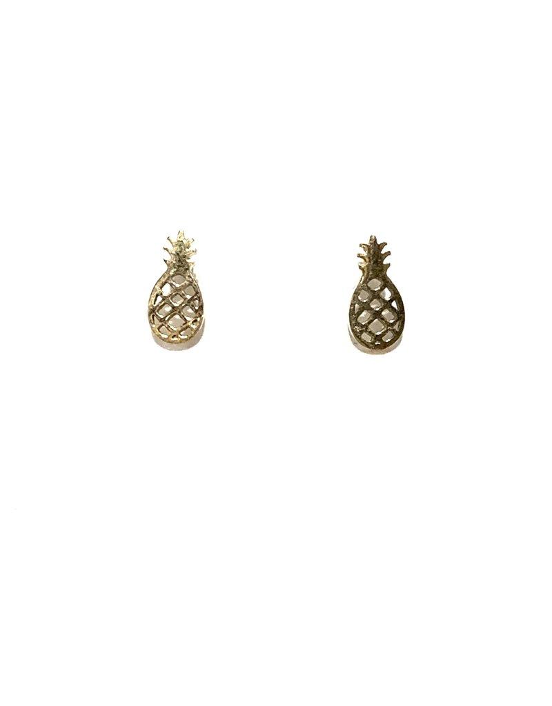 Royce & Oak Pineapple Earrings- Gold