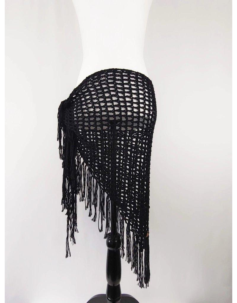 Tillys Cozy Hooks Hemlock Shawl- Black