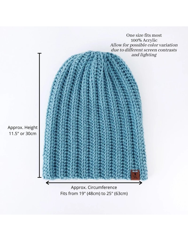 Tillys Cozy Hooks Slouchy Toque- Light Blue