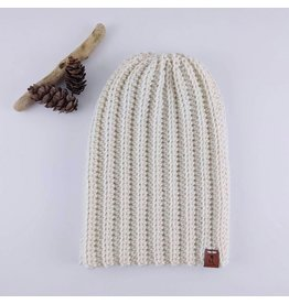 Tillys Cozy Hooks Slouchy Toque- Cream