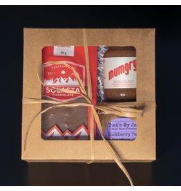 Cultured Coast Chocolate Peanut Butter + Blackberry Peach Bourban Jam Gift Box