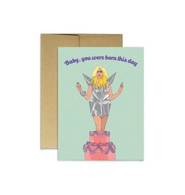 Party Mountain Paper Co Born this Day Card