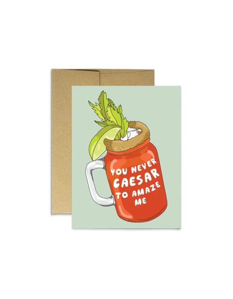 Party Mountain Paper Co Caesar to Amaze Card