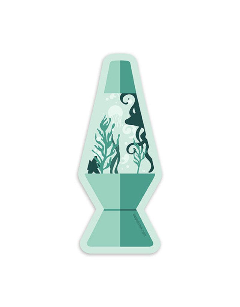 Amanda Weedmark Lave Lamp Ocean Sticker