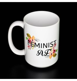 Cultured Coast Feminist AF 15oz Mug