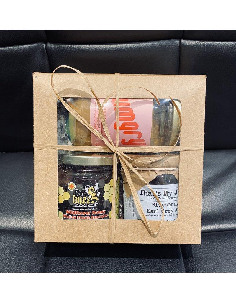 Cultured Coast Peanut Butter, Jam, and Honey Box