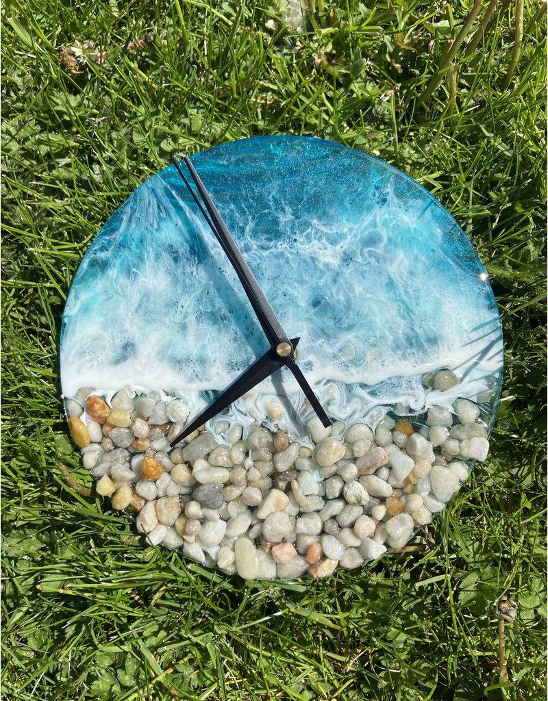 West Coast Resin Art Resin Clock