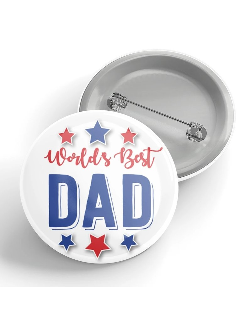 Black River Letterpress & Paper Co. Worlds Best Dad Pin