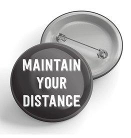 Black River Letterpress & Paper Co. Maintain Your Distance Pin