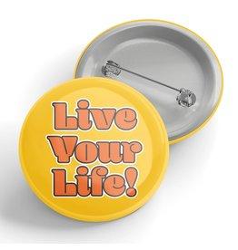 Black River Letterpress & Paper Co. Live Your Life Pin