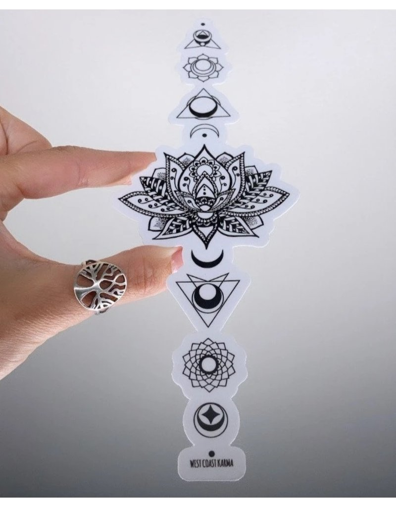 West Coast Karma Sacred Lotus Chakra Vinyl Sticker