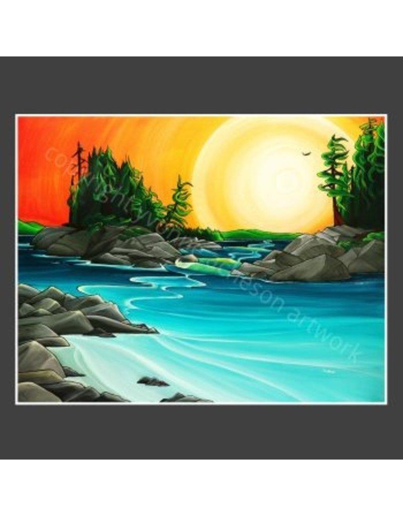 "Yvonne Acheson Art ""Crystal Cove"" Medium Framed"