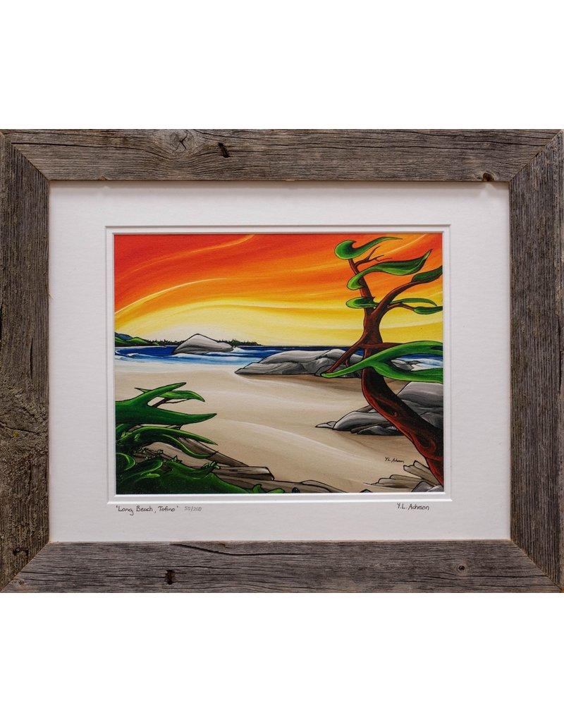 """Yvonne Acheson Art """"Long Beach, Tofino"""" Small Framed"""