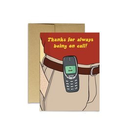 Party Mountain Paper Co Dad on Call Card