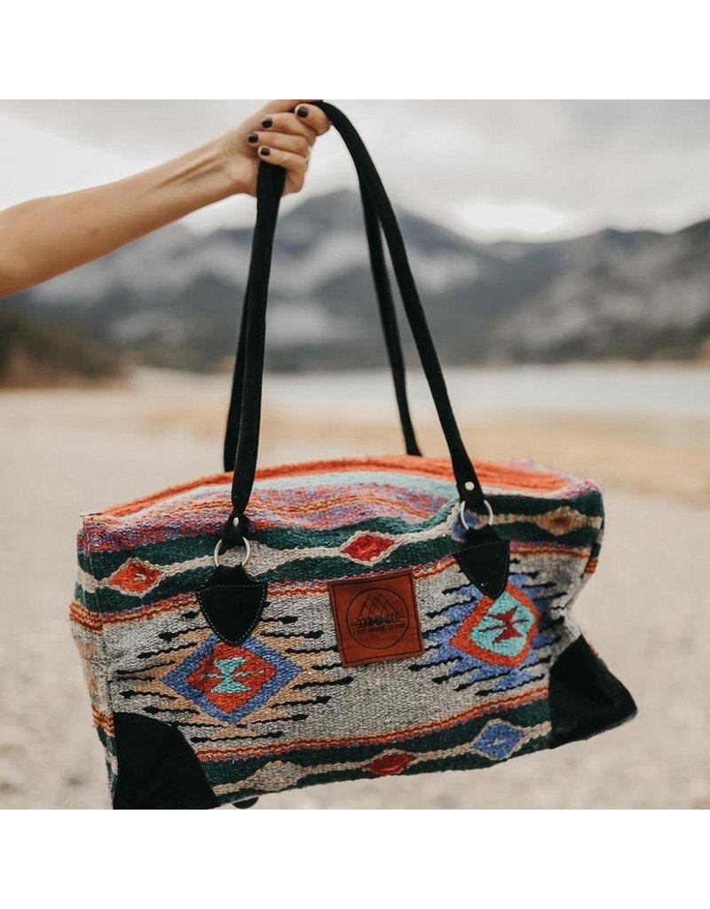Lace Brick Designs Grey Purple Overnighter Bag