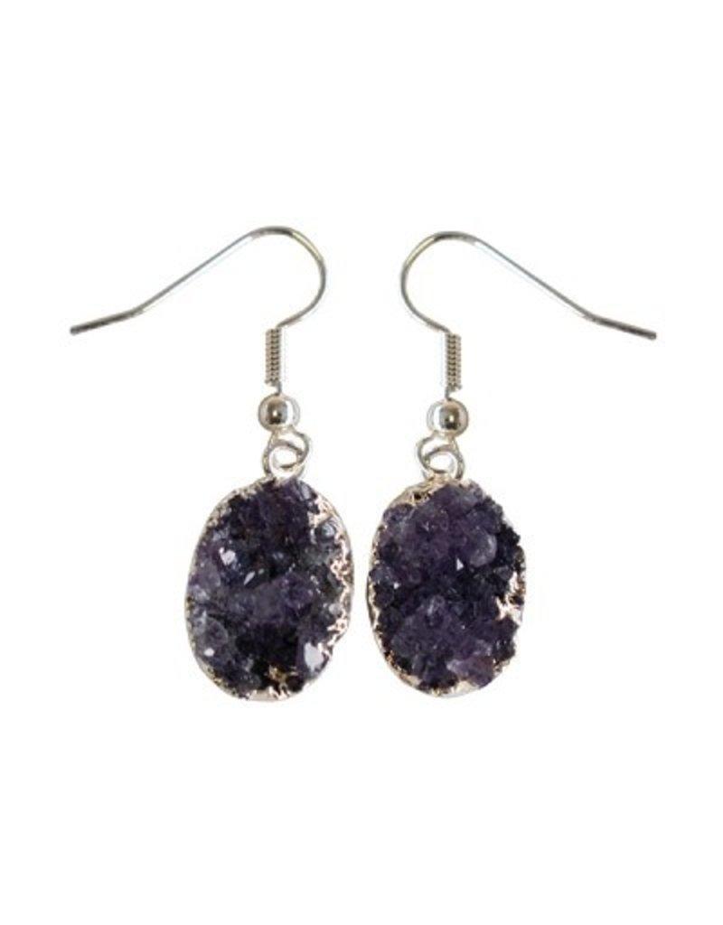 Cultured Coast Sterling Silver Amethyst Earrings