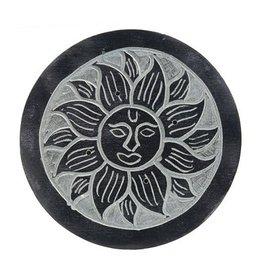 Cultured Coast Soapstone Round Incense Holder - Sun