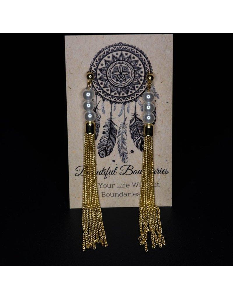 Beautiful Boundaries Pearl Tassle Earrings
