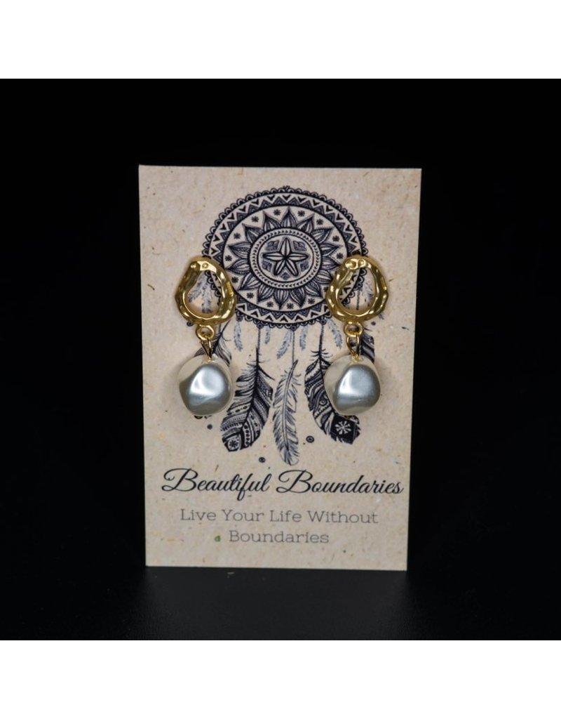 Beautiful Boundaries Pearl Dangle Earrings