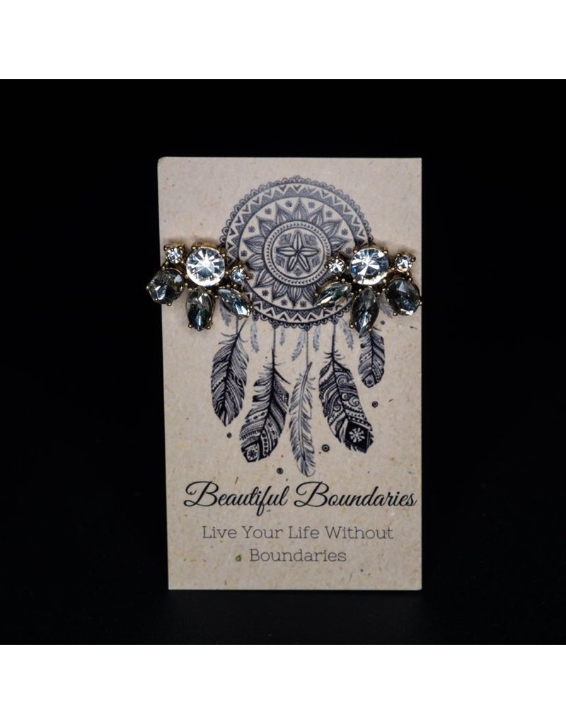 Beautiful Boundaries Crystal Cluster Earrings