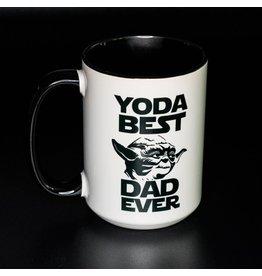 Cultured Coast Yoda Best Dad Ever Black 15oz Mug