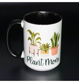 Cultured Coast Plant Lady Black 15oz Mug