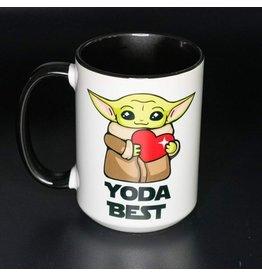Cultured Coast Yoda Best Black 15oz Mug