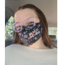 Adult-ish Floral Be Nice It's Free Mask