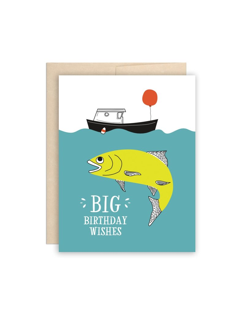 The Beautiful Project Big Fish Happy Birthday Card