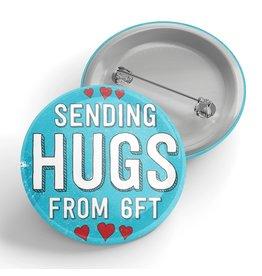 Black River Letterpress & Paper Co. Sending Hugs from 6 Feet Pin