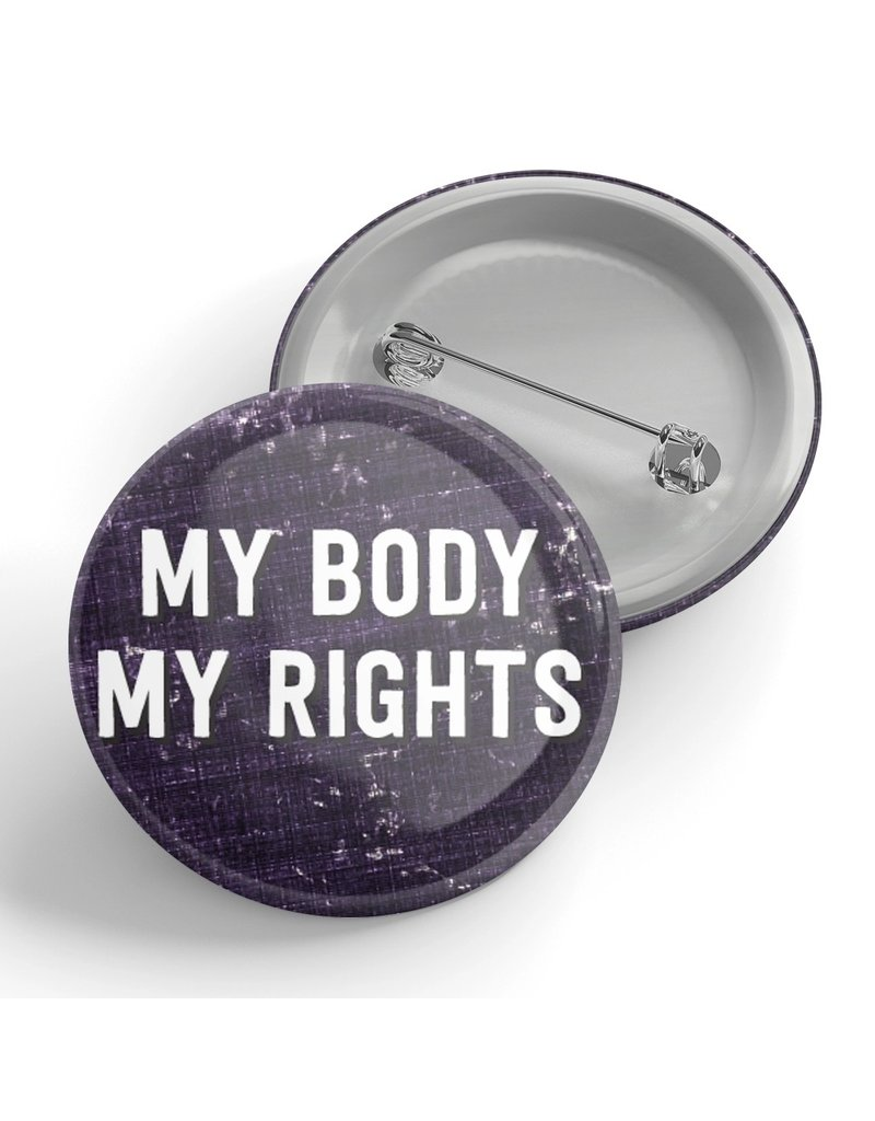 Black River Letterpress & Paper Co. My Body My Rights Pin