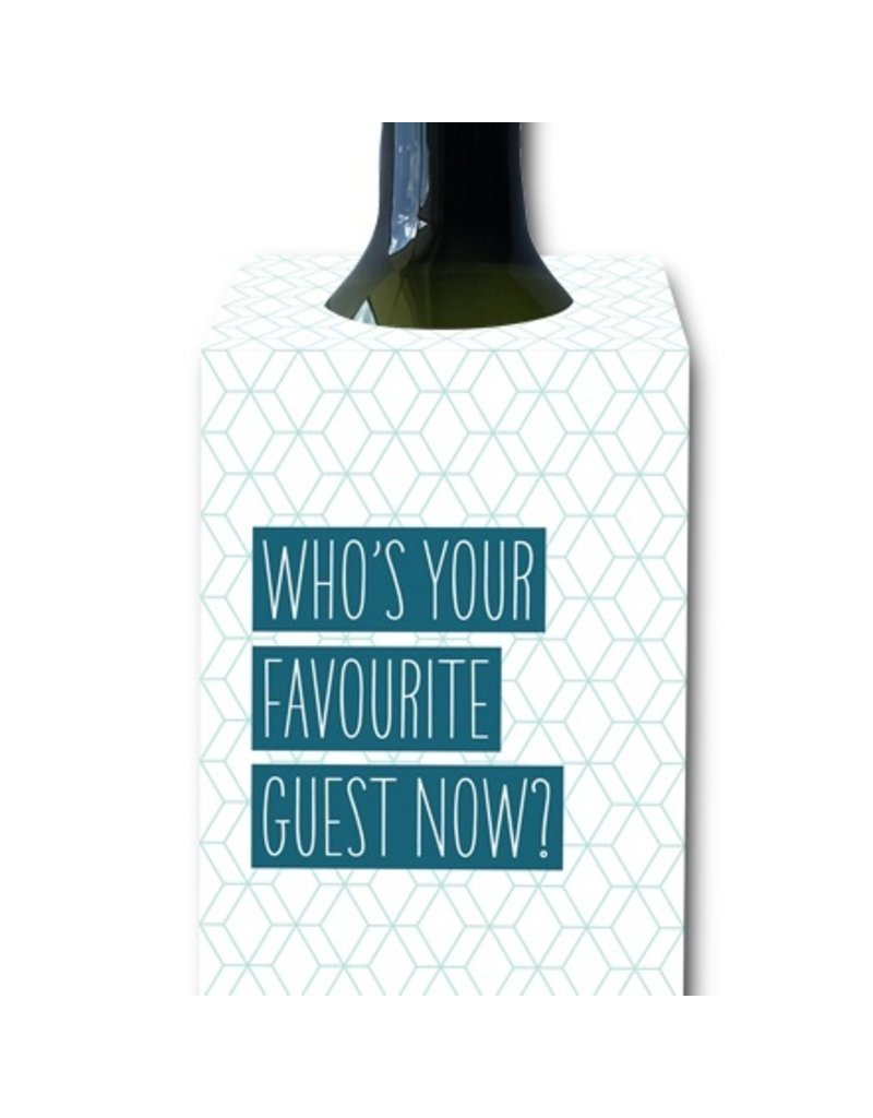 I'll Know It When I See It Favorite Guest Now Wine Tag