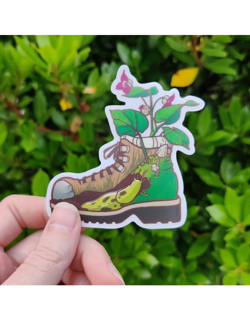 "Amanda Key Design Hiking Boot 3"" vinyl sticker"