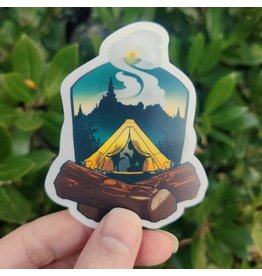 "Amanda Key Design Camping Adventures 3"" vinyl sticker"