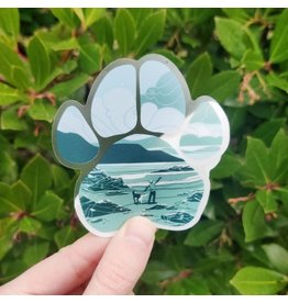 "Amanda Key Design Beach Bandit 3"" vinyl sticker"