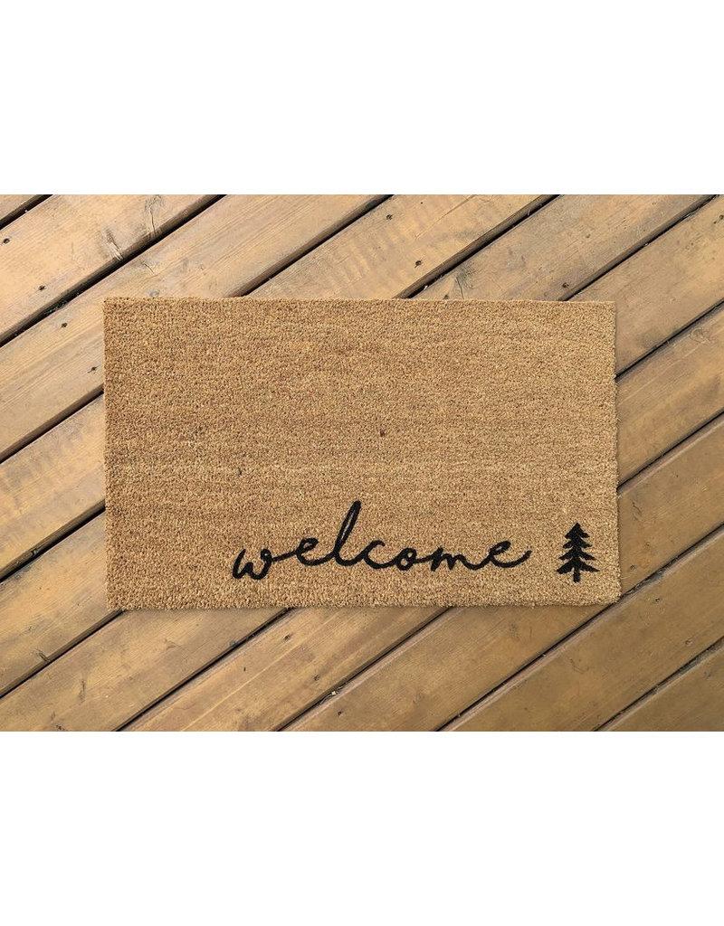 Aspen Blue Co Welcome (trees) Doormat