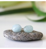 Designs By Nature Gems Aquamarine Stud Earrings - March Birthstone