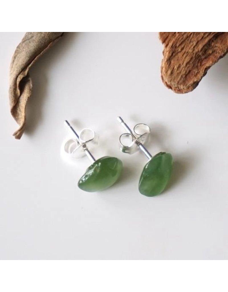 Designs By Nature Gems Jade Stud Earrings