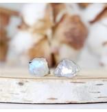 Designs By Nature Gems Rainbow Moonstone Stud Earrings