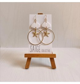 Saige Collective Ariel - White Clay Earrings