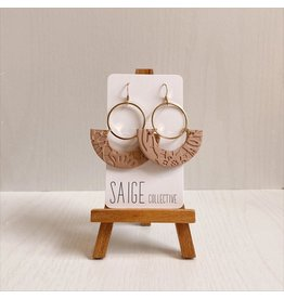 Saige Collective Osiris - Blush Lace Clay Earrings